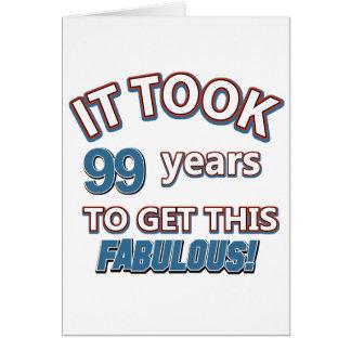 Cartão 99.o design do aniversário do ano