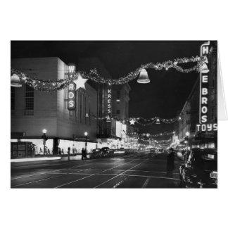 Cartão 9o & ruas de K, Sacramento, CA, 1947
