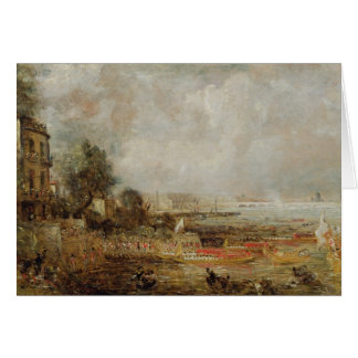 Cartão A abertura da ponte de Waterloo, c.1829-31 (óleo