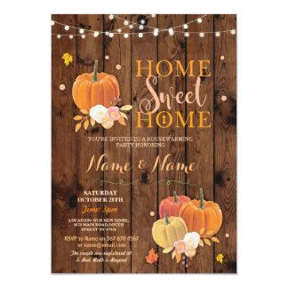 Cartão A abóbora Home doce Home da queda do Housewarming