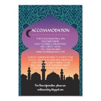 Cartão A acomodação carda noites árabes Wedding