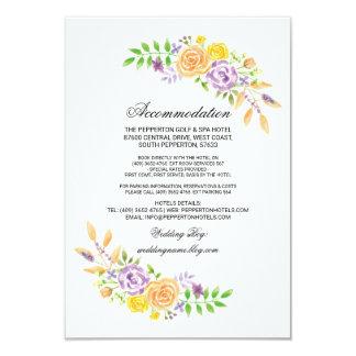 Cartão A acomodação do casamento carda inserções roxas do