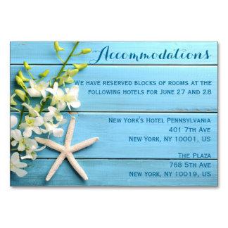 Cartão A acomodação do casamento da estrela do mar carda