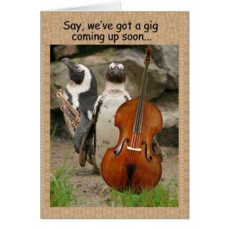 Cartão A actuação do pinguim convida