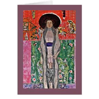 Cartão A Adele Bloch-Bauer de Klimt em um chapéu grande