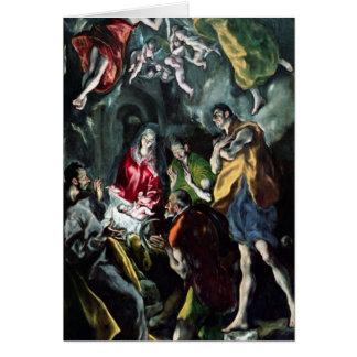 Cartão A adoração dos pastores