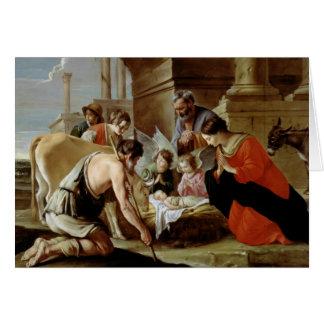 Cartão A adoração dos pastores, c.1638