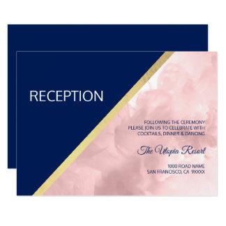 Cartão A aguarela cora casamento cor-de-rosa da recepção