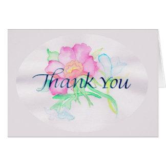 Cartão A aguarela Pastel floresce o mini buquê floral TY