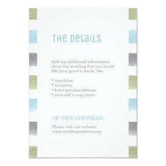 Cartão A aguarela rústica listra o detalhe do casamento