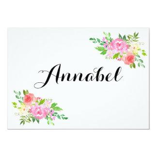 Cartão A aguarela você por minha proposta do florista