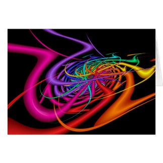 Cartão A alienígena acena a arte abstracta colorida