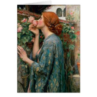 Cartão A alma do rosa, 1908