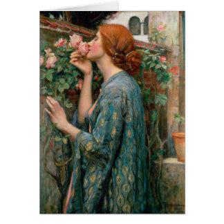 Cartão A alma do rosa - John William Waterhouse