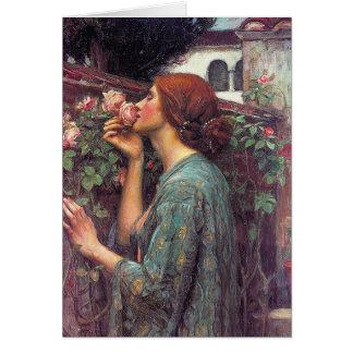 "Cartão ""A alma do rosa"" por John W. Waterhouse"