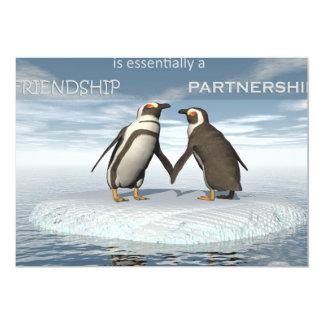 Cartão A amizade é essentailly uma parceria
