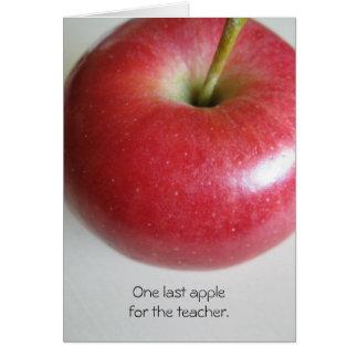 Cartão A aposentadoria Apple do professor carda
