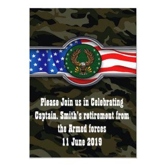Cartão A aposentadoria militar de um soldado