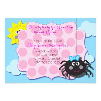 Cartão A aranha de Itsy Bitsy convida