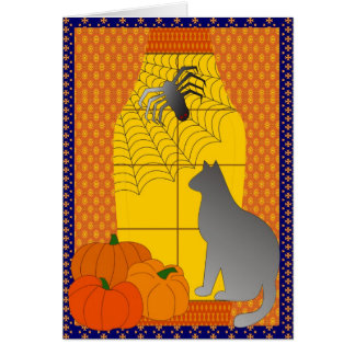 Cartão A aranha e o gato