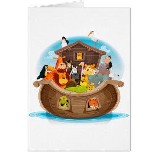 Cartão A arca de Noah com animais da selva