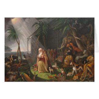 Cartão A arca de Noah por Charles Wilson Peale - cerca de