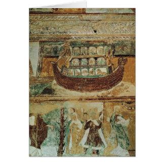 Cartão A arca durante a inundação, c.1100 de Noah