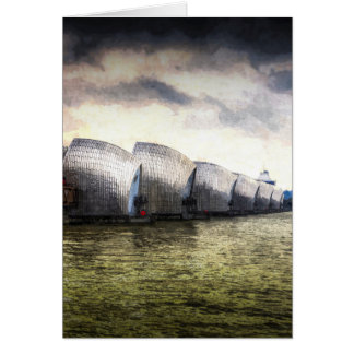 Cartão A arte de Londres da barreira de Tamisa