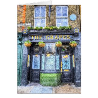 Cartão A arte de Londres do bar das uvas