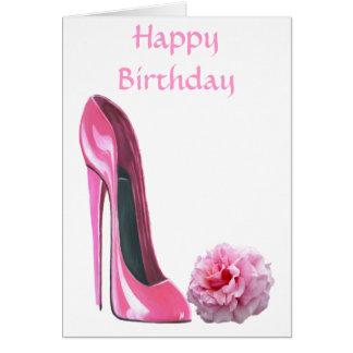 Cartão A arte dos calçados do estilete e bonito