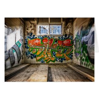Cartão A arte dos grafites perdeu o preto de construção