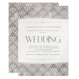 Cartão A arte moderna Deco | cora e o casamento de prata