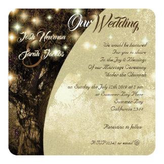 Cartão A árvore da noite judaica da vida ilumina o