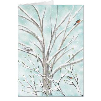 Cartão A árvore da pomba