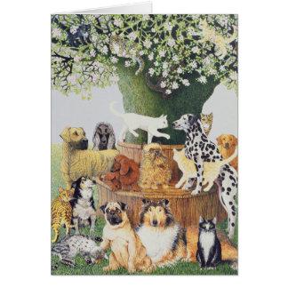 Cartão A árvore de Trysting