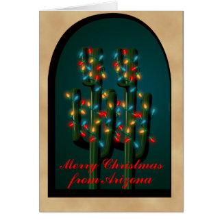 Cartão A árvore do cacto de Natal de Adobe da arizona