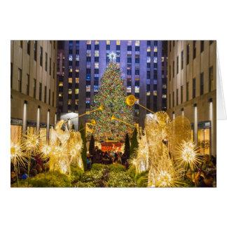 Cartão A árvore ilumina o centro 2013 de Rockefeller