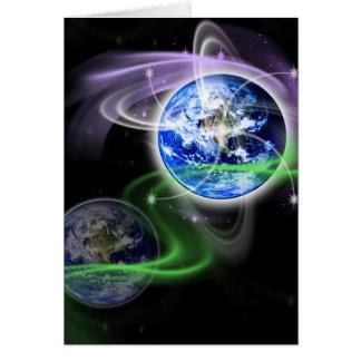 Cartão A ascensão da terra