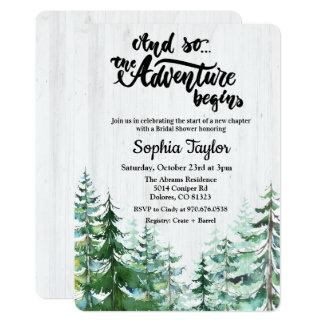 Cartão A aventura começa o chá de panela
