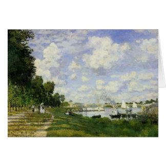 Cartão A bacia em Argenteuil - Claude Monet