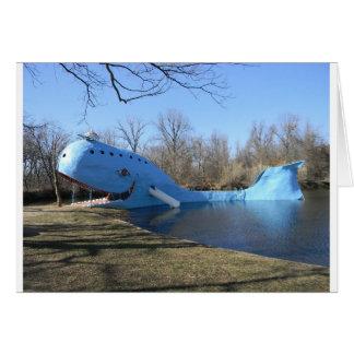 Cartão A baleia azul de Catoosa