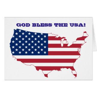 Cartão A bandeira americana dos EUA PERSONALIZA