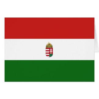 Cartão A bandeira de Hungria