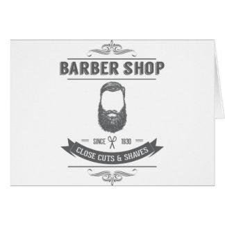 Cartão A barbearia