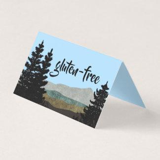Cartão A barraca rústica da mesa da comida dos pinhos