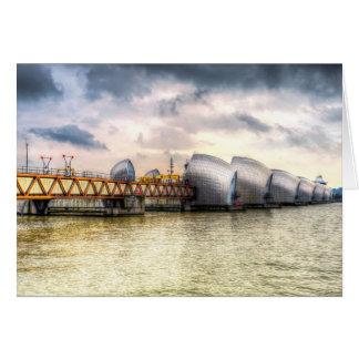 Cartão A barreira Londres de Tamisa