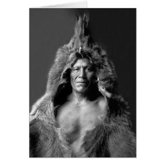 Cartão A barriga do urso - homem de medicina de Arikara