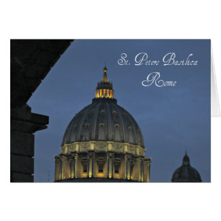 Cartão A basílica de St Peter, Roma, Italia
