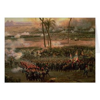 Cartão A batalha das pirâmides, o 21 de julho de 1798,