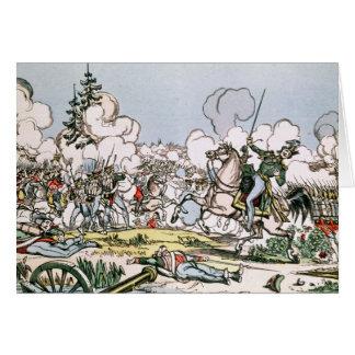 Cartão A batalha de Moscovo, o 7 de setembro de 1812